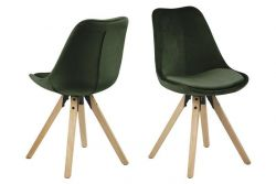 Chairs Nida | Set of 2 | Forest Green & Wood