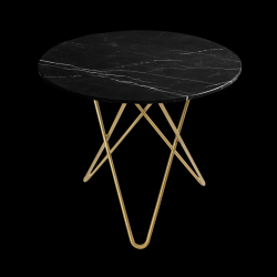 Dining Table DINING O | Black & Brass