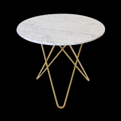 Dining Table DINING O | White & Brass