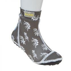 Strandsocken Dino | Grau/Weiß