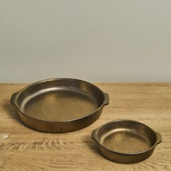 Oven Tray Round | Gold-Hammered