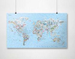 Wiederbeschreibbare Weltkarte | Tauchen