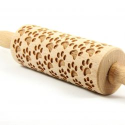 Engraved Rolling Pin | Dog Paws