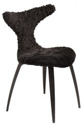 Chair Dolphin Lambskin | Black