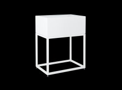 Plant Pot Fiorina | Metal | 50 x 30 x 60 cm | White