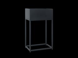 Pflanztopf Fiorina | Metall | 50 x 30 x 80 cm | Schwarz