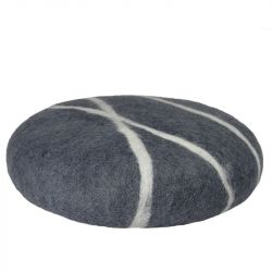 Cushion Sirani Stone | Dark Grey/White