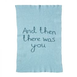 And Then There Was You Mini Blanket | Blue