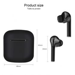 Wireless Touch Headphones + Microphone | Black