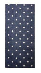 Blauwe Mat met stippen