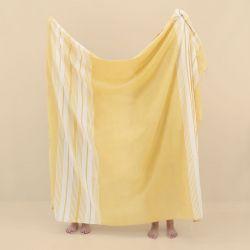 Strandtuch Azur | 200 x 180 cm | Mustard Gelb