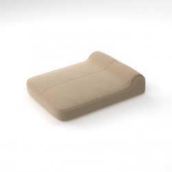 Inflatable Double Sunlounger with Free Rechargeable Pump | Natté Heather Beige
