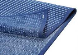 Doppelseitiger Teppich Moka | Blau