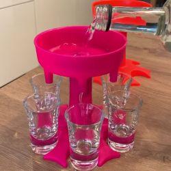 Dispenser Shotbuddy für 6 Gläser | Rosa