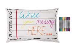 Doodle Notebook Pillowcase | 75 x 50 cm
