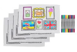 Doodle Frame Placemat Set of 4