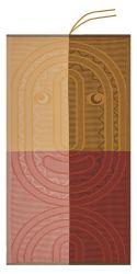 Strandtuch Totem Kinder Animal 140 x 70 cm | Rot/Gelb