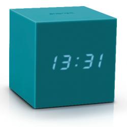 Réveil Cube Click Clock Gravity | Bleu Sarcelle