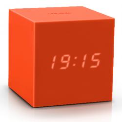 Würfel-Klick-Uhr-Schwerkraft | Orange