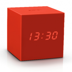 Réveil Cube Click Clock Gravity | Rouge