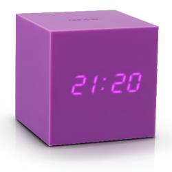 Réveil Cube Click Clock Gravity | Pourpre