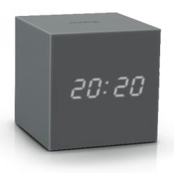 Réveil Cube Click Clock Gravity | Gris