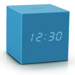 Würfel-Klick-Uhr-Schwerkraft | Himmelblau