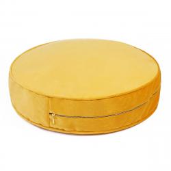 Sitzkissen Samt 60 cm | Gelb