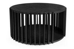 Couchtisch Drum | Eiche-Schwarz