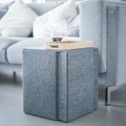 Side Table Stool BLOCK | Crayon Gray