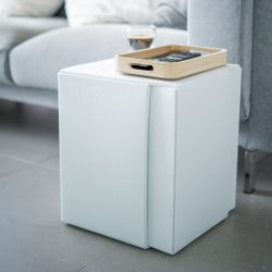 Side Table Stool BLOCK | Ice White