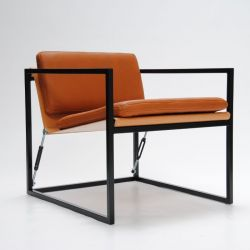 MLS 919 Club Chair | Natural Leather / Black