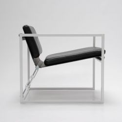 MLS 919 Club Chair | Schwarz / weiß