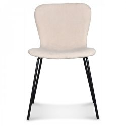 Chair Adele | Black Legs & Natural Velvet