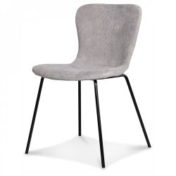 Chair Adele | Black Legs & Grey Velvet