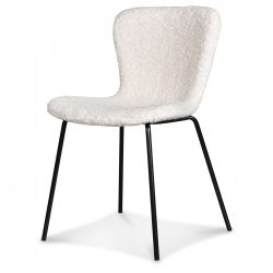 Chair Adele | Black Legs & Faux Fur