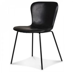 Chair Adele | Black Legs & Almost Black