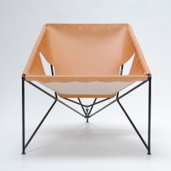MLS 920 Lounge Chair | Brown Leather/Black