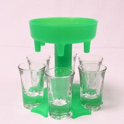 Dispenser Shotbuddy für 6 Gläser | Grün