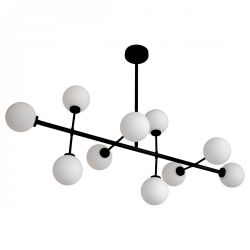 Pendant Lamp Edmond 10 Globes | Black