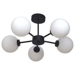 Pendant Lamp Edmond 5 Globes | Black
