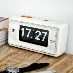 Horloge à Bascule AL30 | Blanc