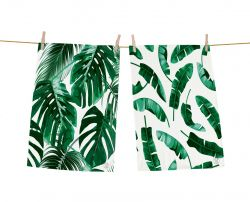 Dish Towels Attractive Green Set of 2