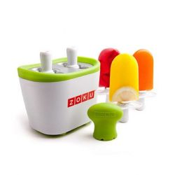 Moule à Glace Duo Quick Pop Maker | Blanc & Vert
