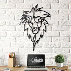 Wanddekoration Löwenkopf