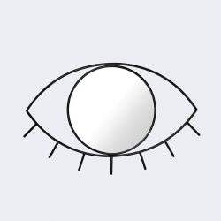 Wandspiegel Cyclops Medium | Schwarz