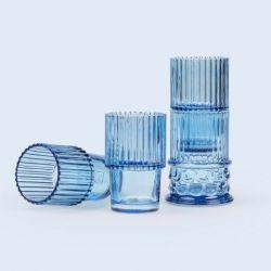 Glazen Hestia Set van 4 | Blauw