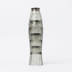 Stapelbare Glazen Koifish / Set van 4 | Grijs