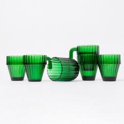 Glazen Saguaro | Set van 6 | Groen