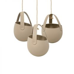 Set of 3 Hanging Planters Sling | Taupe's Touch